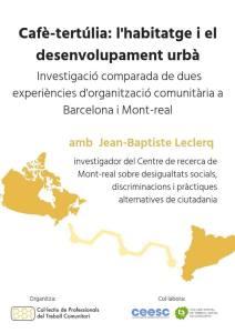 cafe tertulia habitatge i desenvolupament urbà